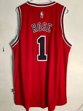 Adidas Swingman 2015-16 NBA Jersey Bulls Derrick  Rose Red sz 4XL