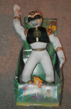 "1994 Power Rangers WHITE RANGER 12"" Plush   RARE movable/poseable arms"