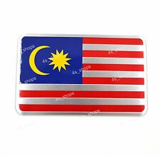 Car/Motorcycle Decal Malaysia Flag Decor Sticker 3D Aluminum Alloy Emblem Badge