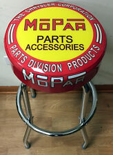 Mopar Chrysler Parts and Accessories Sign Shop Auto Bar Stool Stools