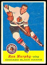 1957-58 TOPPS HOCKEY #29 RON MURPHY VG-EX CHICAGO BLACK HAWKS FREE SHIP USA