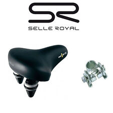 Bicycle Saddle Gel saddle City Touring Selle Royal incl Saddle Clamp 2017