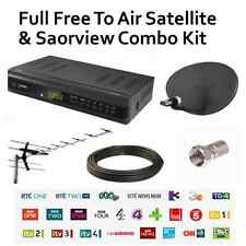 FULL Combo Free To Air & Saorview Installation Kit - Watch Freesat & Irish TV UK