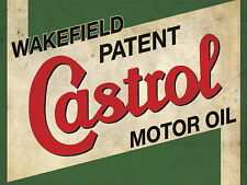 CASTROL MOTOR OIL VINTAGE RETRO METAL SIGN GARAGE:MAN-CAVE IDEAL GIFT METAL SIGN