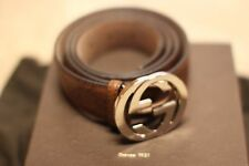 "Authentic Mens Gucci Belt size 38"", Brown, Chocolate, Guccissima, 34 W, $375"