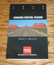 Original 1993 GMC Forward Control Chassis Owners Operators Manual 1st Edition 93