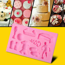 3D Silicone Cake Decorating Mold Fondant Baking Mould DIY Tool Football Sports