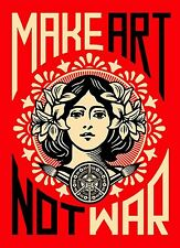 MAKE ART NOT WAR Art A4 print on quality satin photo paper