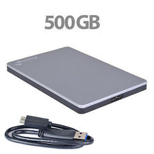 Seagate Backup Plus Slim 500GB SuperSpeed USB 3.0 Portable Hard Drive - Mac/PC