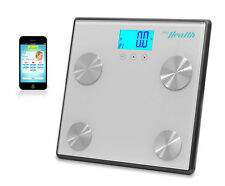 Pyle PHLSCBT4SL Bluetooth Digital Weight and Personal Health Scale -Gray