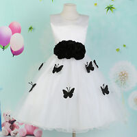SWEET Girl Formal Mini Prom Party Dress Bridesmaid Wedding Party Dress Age 7-12