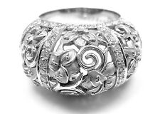 New! Authentic Carrera Y Carrera Taj Mahal 18k White Gold Diamond Ring Box Cert.