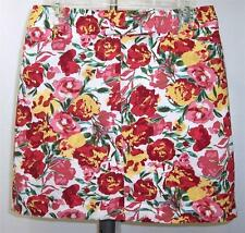 Ann Taylor Loft Floral Mini Above-Knee 6 Multi-Color Skirt