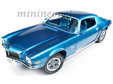 AUTOWORLD AMM982 1971 CEHVROLET CHEVY CAMARO SS 350 L48 TURBO 1/18 DIECAST BLUE