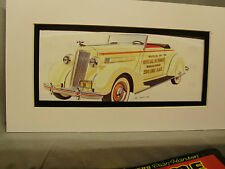 1936 Packard Indy Pace Car  Artist Auto Museum Full color artist Illustrated