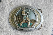 REMINGTON COUNTRY BELT BUCKLE FLY FISHING COMPASS 2002