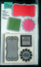 Sizzix Sello & die set Etiquetas por Hero Arts 3 sello 3 Die Set