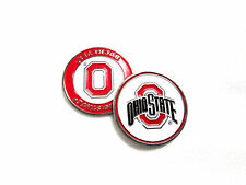 NCAA Ohio State Buckeyes Golf Ball Marker Enamel Metal Team Logo 2 Sided Hat