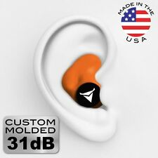 Decibullz PLG1-ORG Custom Molded Fit Earplugs in Orange
