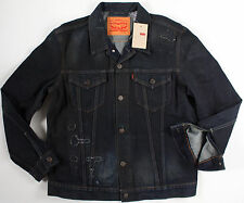 Levi's Slim Fit Distressed Trucker Jacket-XL-NEW-$128-levis aged denim jean coat
