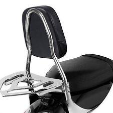 Back Motorcycle Backrest Bar Backrest Cushion Back Seat Pad For Harley Yamaha