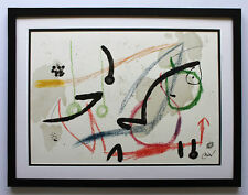 "Joan MIRO 1975 Authentic Large SIGNED Color Lithograph ""Maravillas 7"" FRAMED COA"