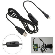 1.5m Micro USB Power Supply Charger Cable Wire ON/OFF Switch Raspberry Pi HOT