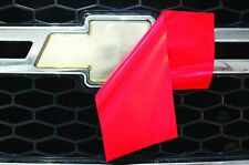 Chevy Vinyl Sheet x2 fits Chevy Bowtie Emblem Logo Dark Red Decals U-CUT Trim
