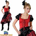 CAN CAN RED SALOON GIRL WILD WEST LADY UK 6-28 Adults Ladies Fancy Dress Costume