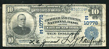 1902 $10 The Chatham & Phenix Nb Of New York, Ny National Currency Ch. #10778