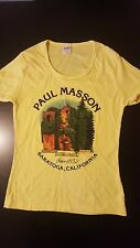 Vintage 70s Paul Masson Saratoga California Mountain Winery T-Shirt Drinking
