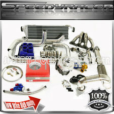 Honda B16/B18 B Series turbo kits steel manifold 0.63 T3/T4 Turbo + 4 in 1 gauge