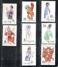 1983 China stamps, Opera, full set MNH, SG 3261-8