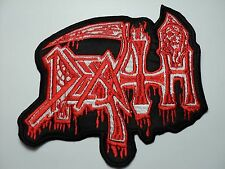DEATH SHAPED  RED  OLD LOGO EMBROIDERED PATCH