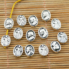 20pcs tibetan silver plated religious oval spacer bead EF1776
