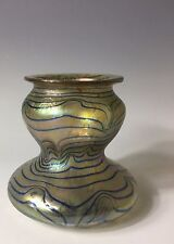Antique Bohemian Iridescent Art Glass Vase Loetz Austria Phanomen Style