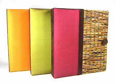 Pure Thai Silk & Reed PhotoAlbum, 4X6 2-Up Pg, 3 Colors