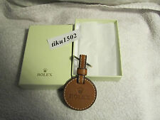 GENUINE ROLEX BROWN TAN LEATHER KEYRING  * Original Packung *   Collectors Item