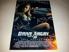 "DRIVE ANGRY CASTX2 PP SIGNED 12""X8"" POSTER NICOLAS CAGE AMBER HEARD"