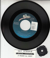 "ALICE COOPER Hey Stoopid 7"" 45 rpm record + juke box title strip BRAND NEW RARE!"