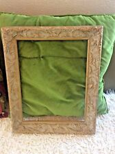 picture frame carved wooden VINTAGE ORNATE CARVED WOOD vtg ornate