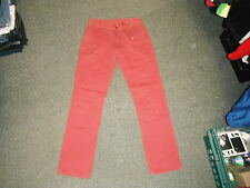 "Kushiro Classic Fit Jeans Waist 28"" Leg 30"" Red Faded Mens Jeans"