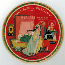 Night Before Christmas Children's Record Guild Picture Record & Sleeve 78 rpm