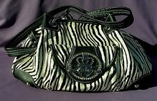 Kathy Van Zeeland Zebra Styled Shopper Tote Bag ( Black / White )