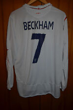 ENGLAND 2006 WORLD CUP HOME FOOTBALL SHIRT JERSEY UMBRO LONG SLEEVE BECKHAM #7