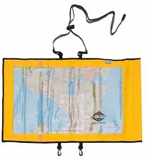 Aqua Quest Trail Map Case - 100% Waterproof Map & Document Holder Dry Bag Yellow