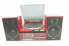 Technics SL-JS1 Turntable, SA-K2L Cassette Receiver, SB-F44 Speakers