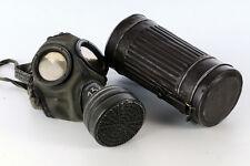 WW II - WW 2 -  German Army Wehrmacht Gas Mask + Container - AUER - 1939