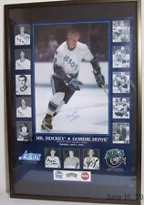 Autographed Gordie Howe Poster Mr Hockey&sons, plus others COA inclu.read more..