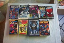 9 JUSTICE LEAGUE SPIDERMAN X-MEN BATMAN VHS TAPE LOT OF ANIMATED CARTOONS Videos